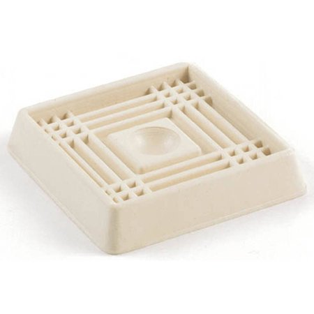 9168 3 Quot Almond Smooth Rubber Square Caster Cups Walmart Com