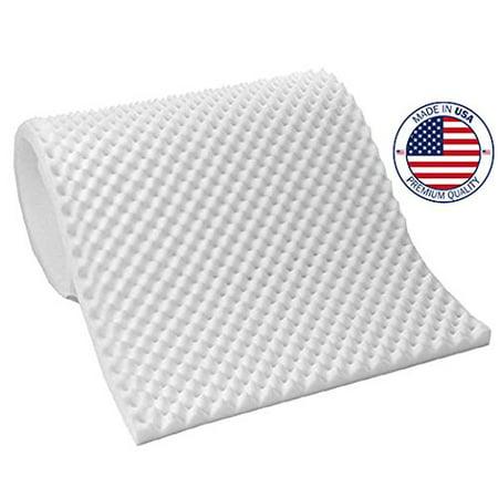 vaunn medical egg crate convoluted foam mattress pad 3 thick eggcrate mattress topper. Black Bedroom Furniture Sets. Home Design Ideas