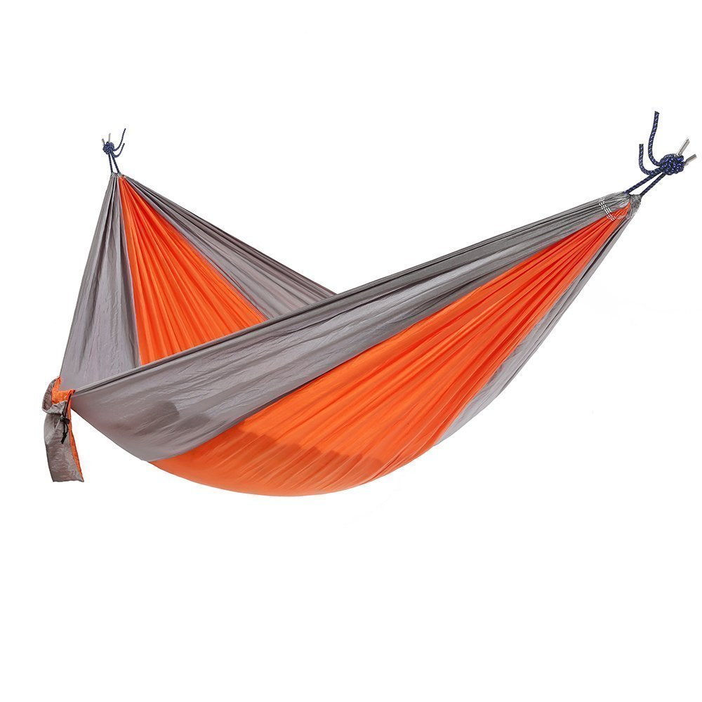 "Ohuhu Portable Nylon Fabric Travel Camping Hammock, 115"" Long X 55"" Wide, 600-Pound Capacity"