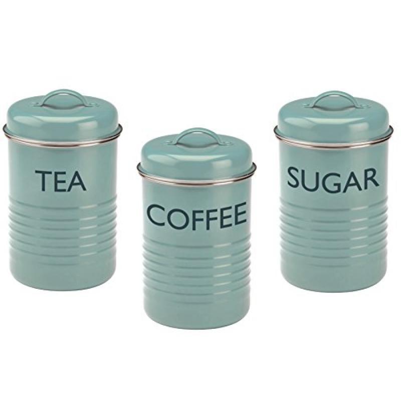 Typhoon Vintage Kitchen Tea/Coffee/Sugar Canisters, Summe...