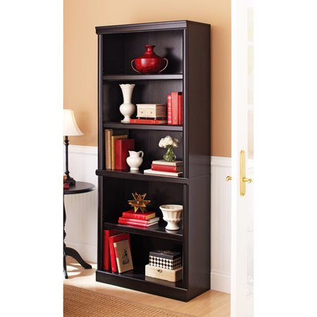Better Homes & Gardens 71u0022 Ashwood Road 5 Shelf Bookcase, Black