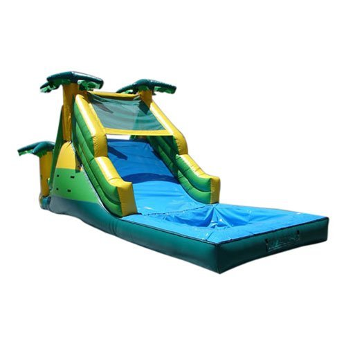 Kidwise Commercial Tropical Inflatable Water Slide