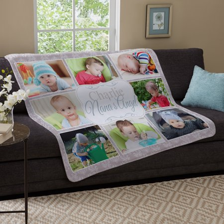 Personalized kids are the best photo plush blanket Personalized Woven Throw Blanket