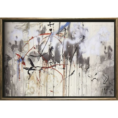 Startonight Bronze Luxury Framed Canvas Wall Art Dali Abstract Reproduction Dual View Surprise Illuminated Abstract Artwork 5 Stars Gift 19.69 x 27.56 inch