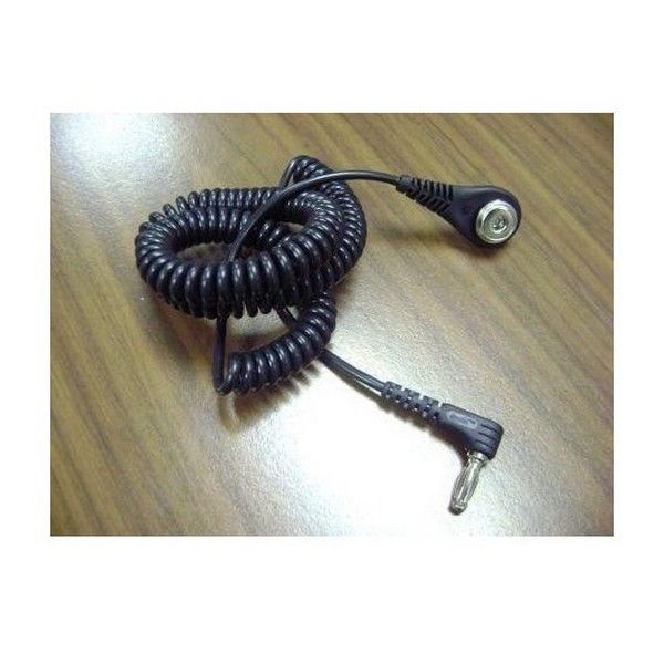 Brand New 6' Right Angle Coiled Cord For Jewel Magsnap Wrist Straps-Black