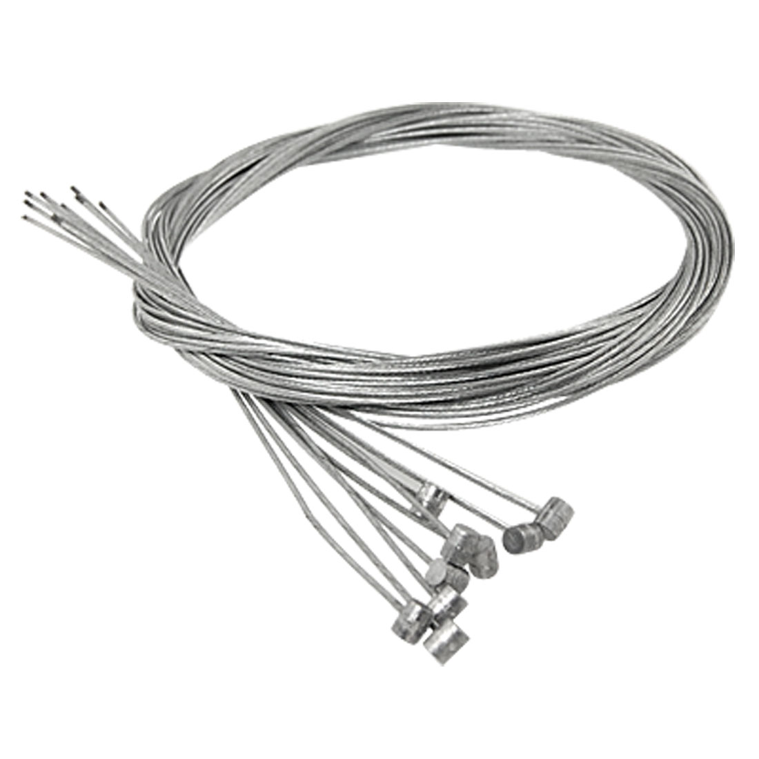 10 Pcs Silver Tone Steel 1.77M Rear Brake Cable for Bicycle