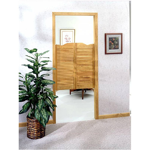 LTL Home Products Dixieland Louvered Unfinished Cafe Doors