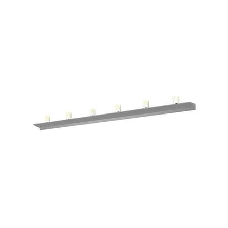 Sonneman  Lighting Votives 12-light ADA Bright Satin Aluminum LED Wall Bar, Clear Etched Crystal Shade Bright Satin Aluminum Led