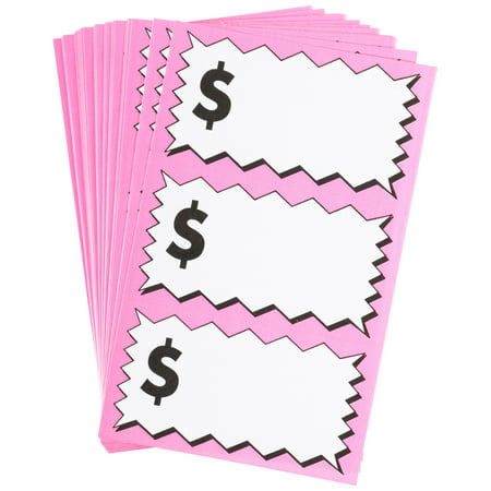 Sunburst Systems Large Pink Pricing Labels 75 ct Pack