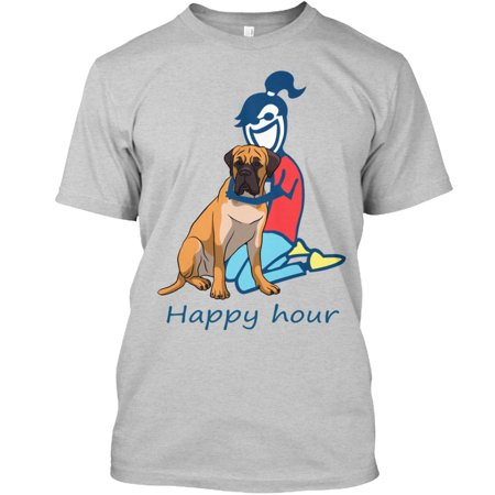Mastiff Happy hour Hanes Tagless Tee (Fox Valley Mall Chicago)