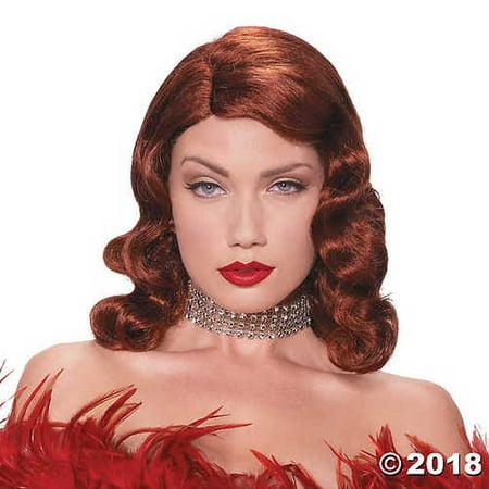 Women's Red Femme Fatale Wig](Halloween Maquillage Femme)