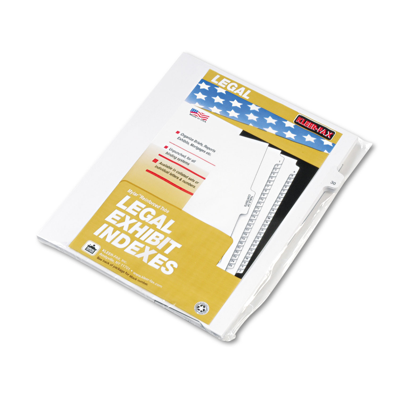 """80000 Series Legal Index Dividers, Side Tab, Printed """"30\ by Kleer-Fax"""