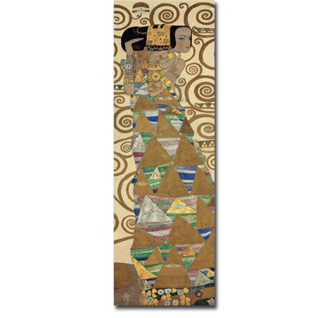 Expectation by Gustave Klimt Premium Oversize Gallery-Wrapped Canvas Giclee Art - 48 x 16 in. - image 1 de 1