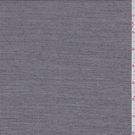 ecru/black heather mini check wool blend suiting, fabric by the yard