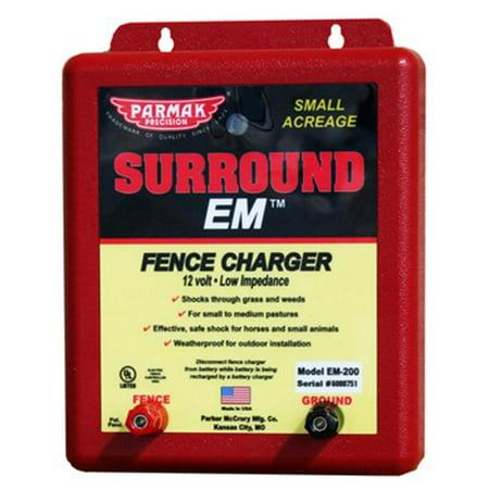 Image of Surround Em Electric Fence Charger, 5 Mile, Uses 12V Car Battery, Parker, EM-200