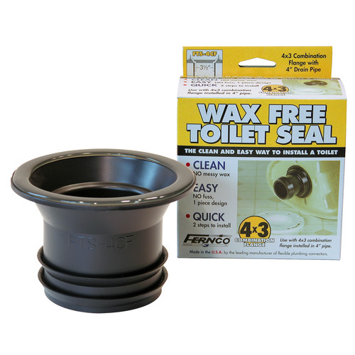 Wax-Free Toilet Gasket To Slab Flange