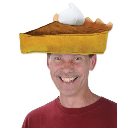 Adult Plush Pumpkin Pie Food Hat Thanksgiving Fall Holiday Cook Chef Accessory for $<!---->
