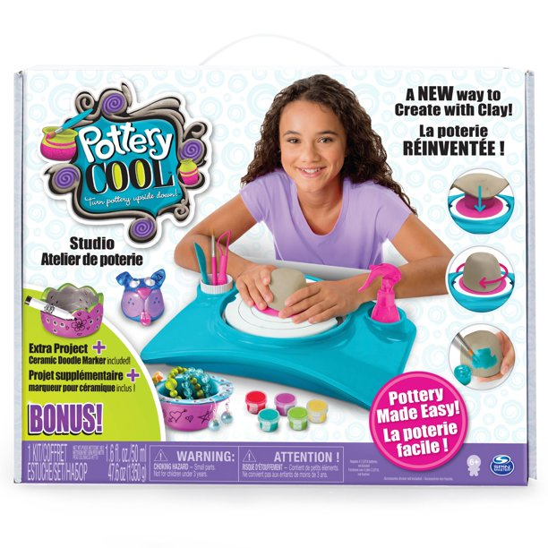 Pottery Cool Studio with Bonus Project, Walmart Exclusive, by Spin Master
