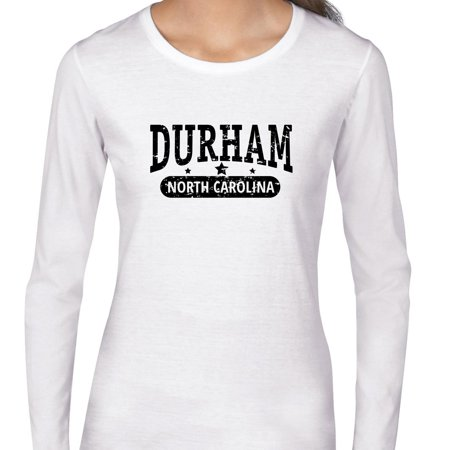 Trendy Durham  North Carolina With Stars Womens Long Sleeve T Shirt