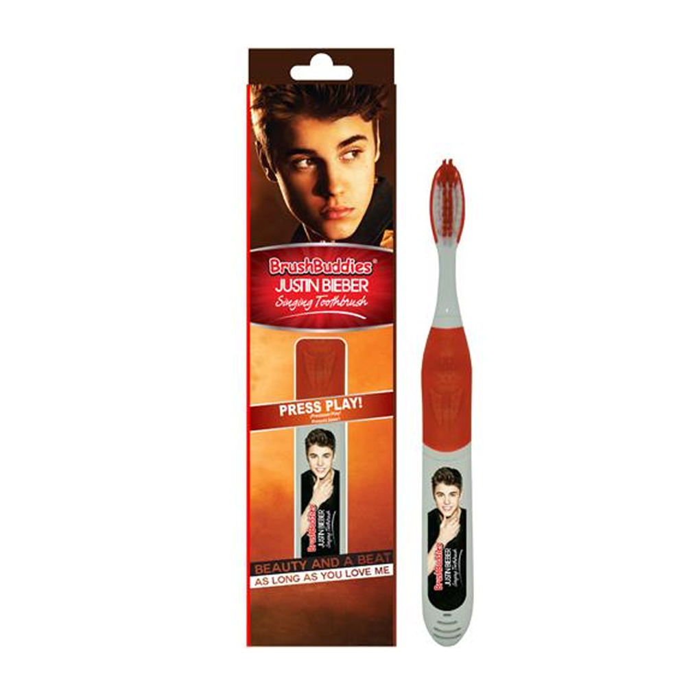 Justin Bieber Singing Toothbrush Brush Oral Care Beauty Beat Music Play 2 Songs