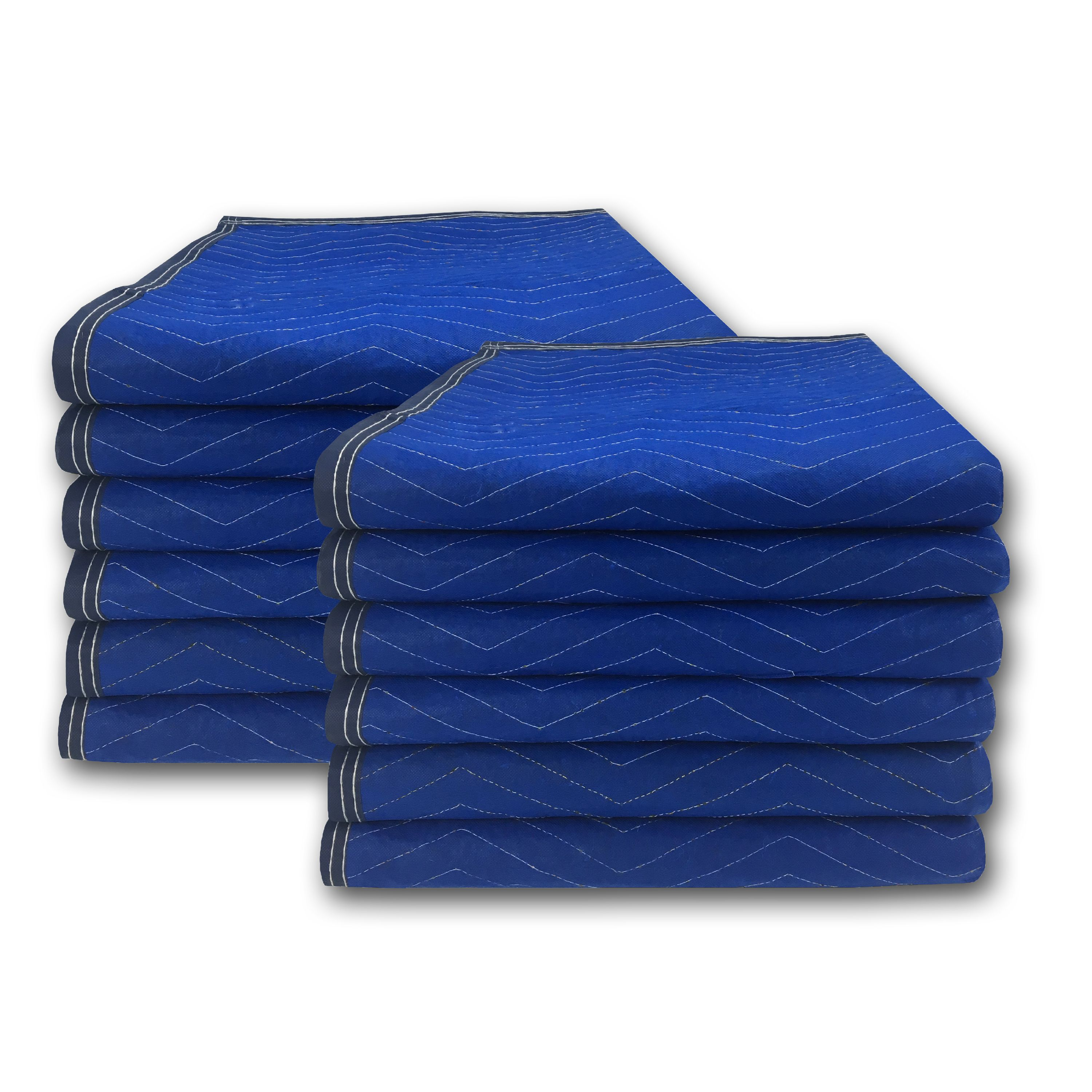 Uboxes Economy Moving Blankets, 72 x 80 in, 3.58lbs each, 12 Pack