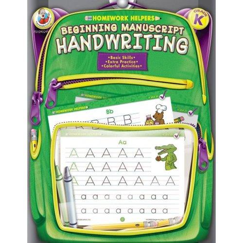 Homework Helpers Beginning Manuscript Handwriting Grade K