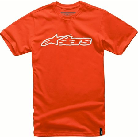Alpinestars Blaze Mens Short Sleeve T-Shirt Orange/White thumbnail