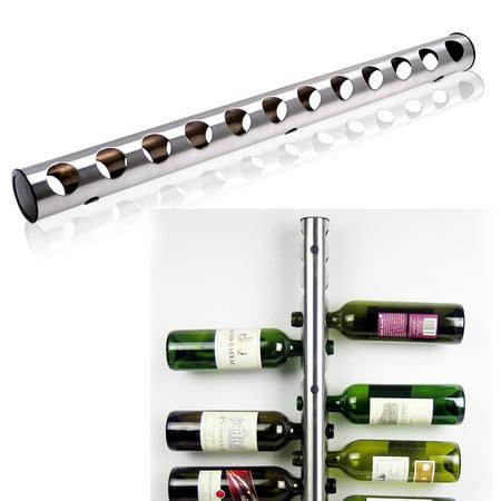 Wall Mounted Wine Bottle Holder (AGPTEK Stainless Steel Wine Rack Bar Wall Mounted Kitchen Holder 12)