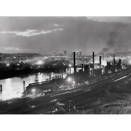 Jones and Laughlin Steel Mill, Pittsburgh, Pennsylvania Print Wall (Mall Pittsburgh)
