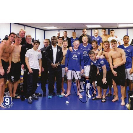 Duncan Ferguson Everton Autographed 8