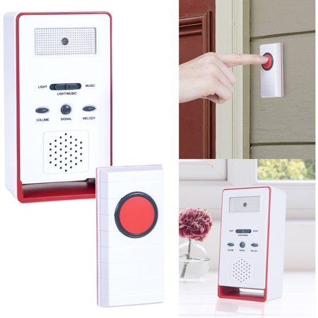 Stalwart Wireless Remote Doorbell Chime and Push Button ()