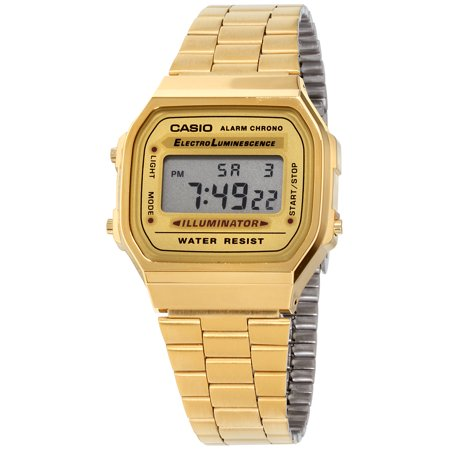 Casio Vintage Retro Gold Digital Dial Stainless Steel Unisex Watch A168WG9UR (Casio Vintage Watch)