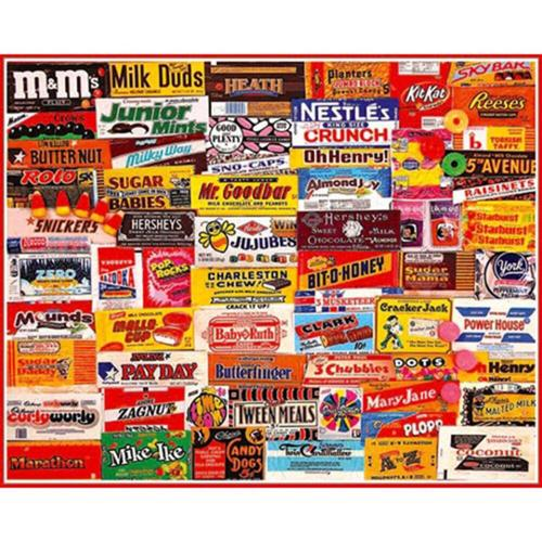 White Mountain Candy Wrappers Jigsaw Puzzle