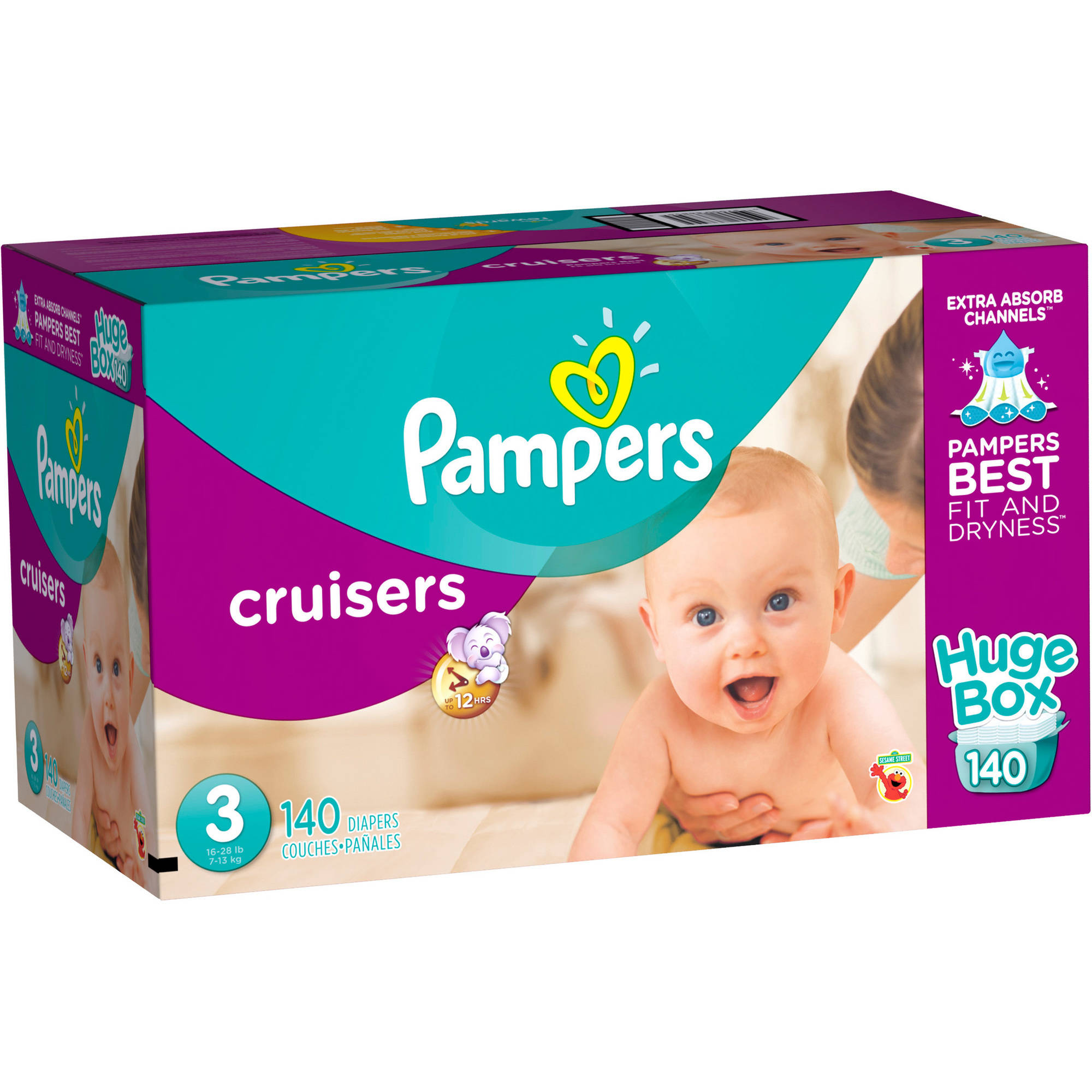 Pampers Cruisers Diapers, Huge Box (Choose your Size)