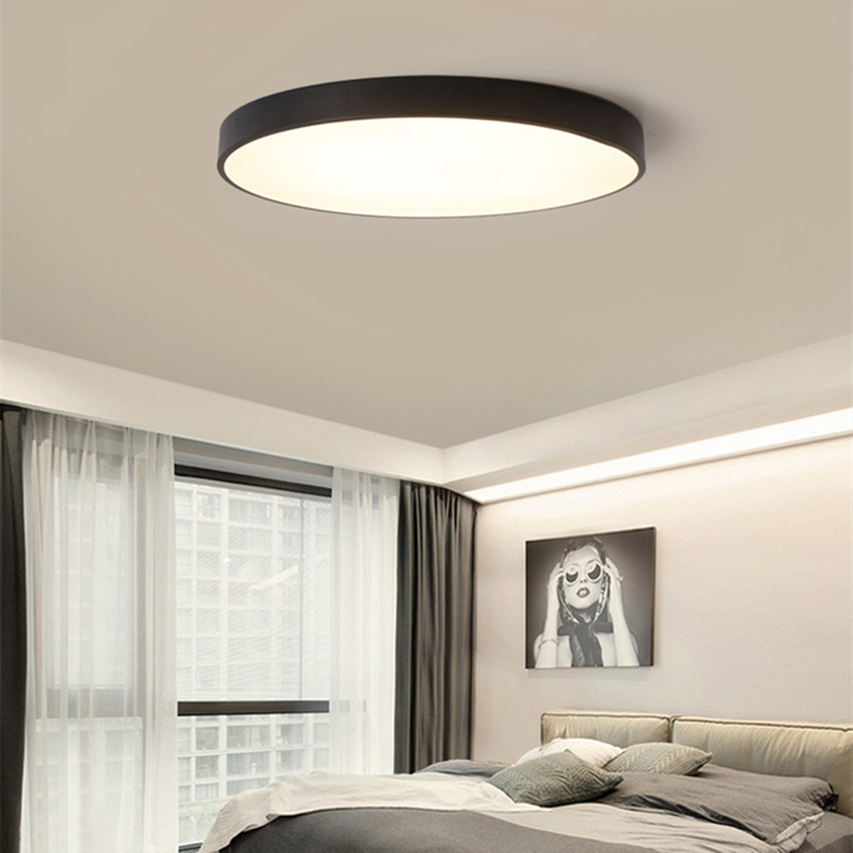 Round Led Ceiling Down Light Fixture White Light Warm Light Home Bedroom Living Room Surface Mount Lamp Walmart Canada