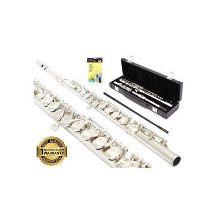 - D'Luca 400 Series Silver Plated 16 Closed Hole C Flute with Offset G and Split E Mechanism, PU Leather Case, Cleaning Kit and 1 Year Manufacturer Warranty