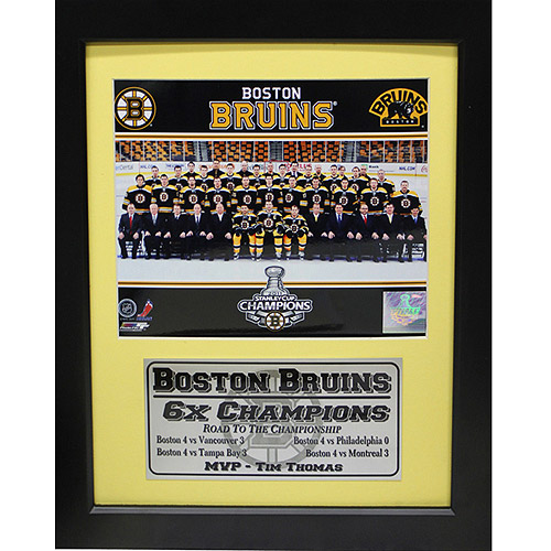NHL Boston Bruins Champions Deluxe Frame, 11x14