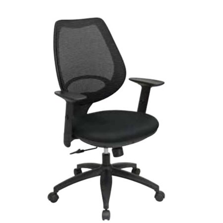 woven mesh back with built in lumbar support office chair black