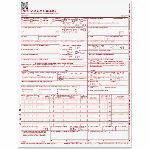 "Paris Business Products CMS Forms, 8.5"" x 11"", 250 Forms"