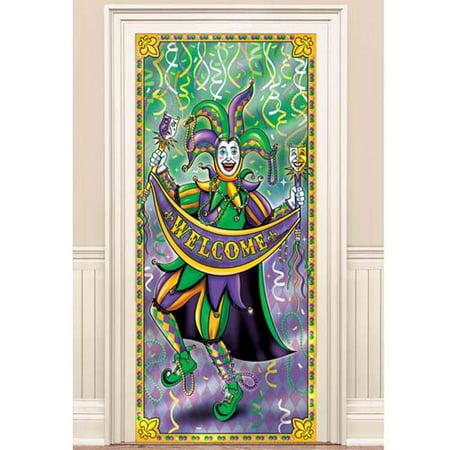 Mardi Gras Jumbo Foil Door Poster (1ct)