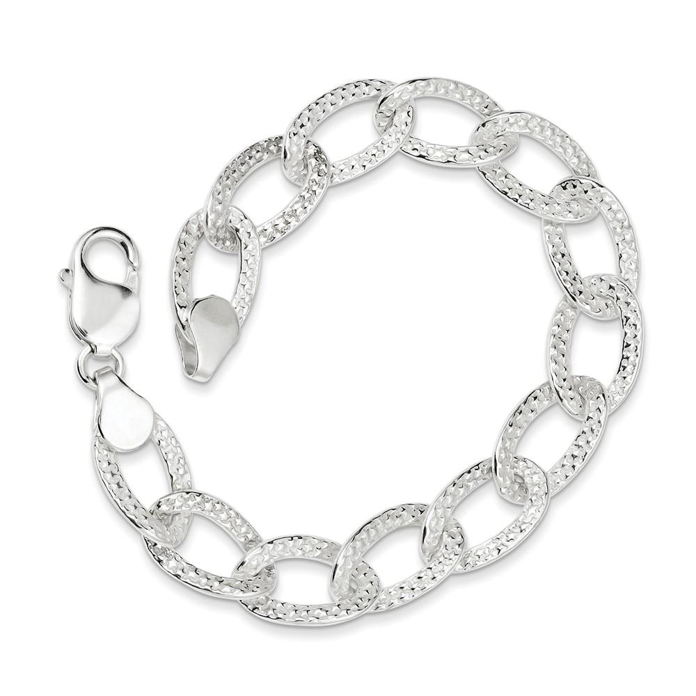 Sterling Silver 7.5in Textured Bracelet