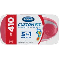 Dr. Scholl's Custom Fit CF410 Orthotic Shoe Inserts for Foot, Knee and Lower Back Relief, 1 Pair