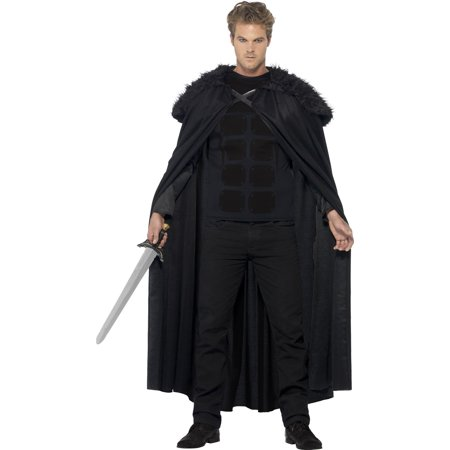 Dark Barbarian Costume with Top and Cape One Size](Barbarian Costumes)