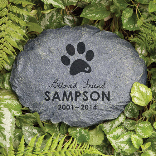 Personalized Beloved Friend Dog Memorial Garden Stone
