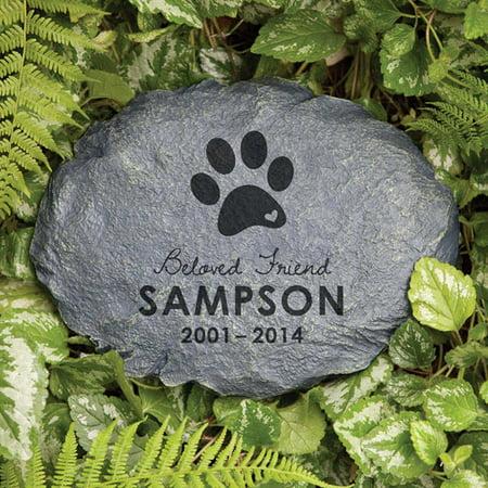 Personalized Beloved Friend Dog Memorial Garden Stone ()