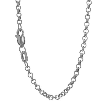 16 Toggle Rolo Necklace - 14k Yellow Or White Gold 2.3mm Rolo Chain Bracelet Necklace 7