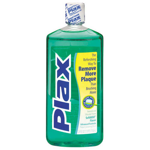 Plax Softmint Advanced Formula Plaque Loosening Rinse 24 oz