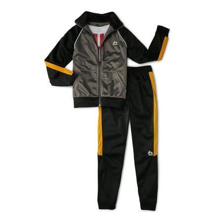 RBX Tricot Jacket, Joggers & Graphic T-Shirt 3-Piece Active Set (Little Boys & Big Boys) Boys Jogging Set