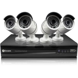 8-CHANNEL 4-CAMERA IN/OUTDOOR HIGH-DEF DVR SURVEILLANCE SYSTEM
