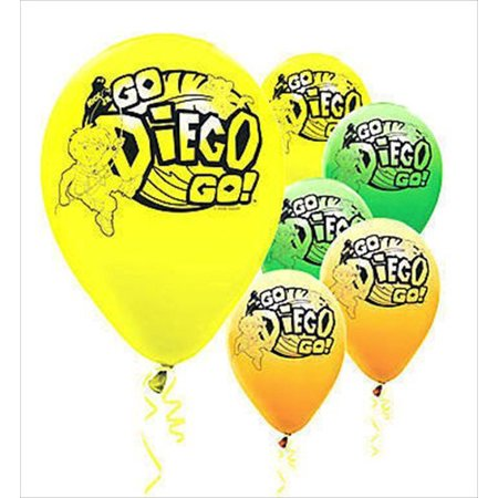 Go Diego Go! Latex Balloons (6ct) by, By Designware Ship from US - Go Diego Go Balloons